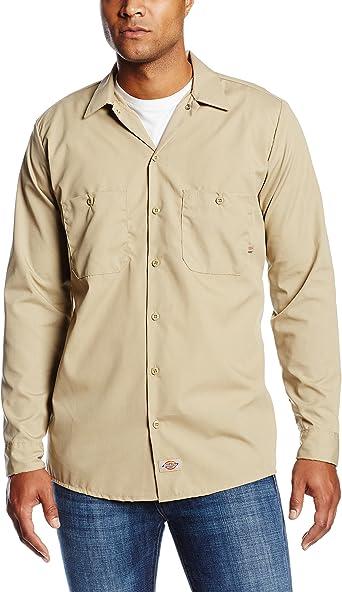 Dickies Occupational Workwear LL535DS Camisa de Trabajo Industrial de Manga Larga de poliéster/algodón para Hombre, Arena del Desierto