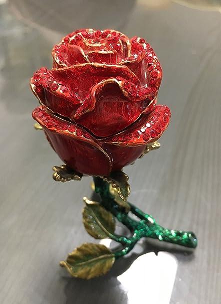 Amazon Znewlook Rose Bejeweled Trinket Jewelry Box Wedding