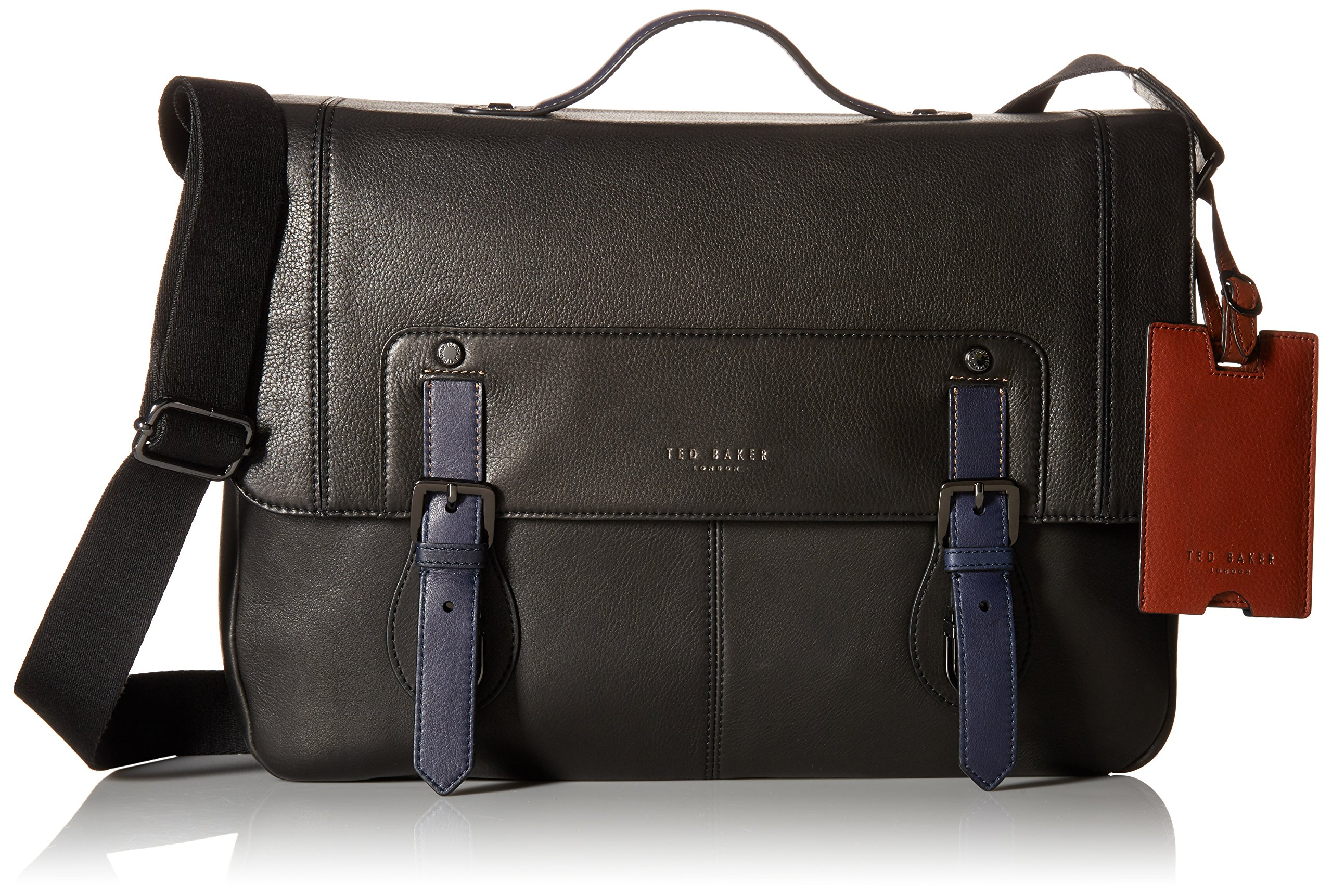 Ted Baker Colour Block Messenger Bag, Black