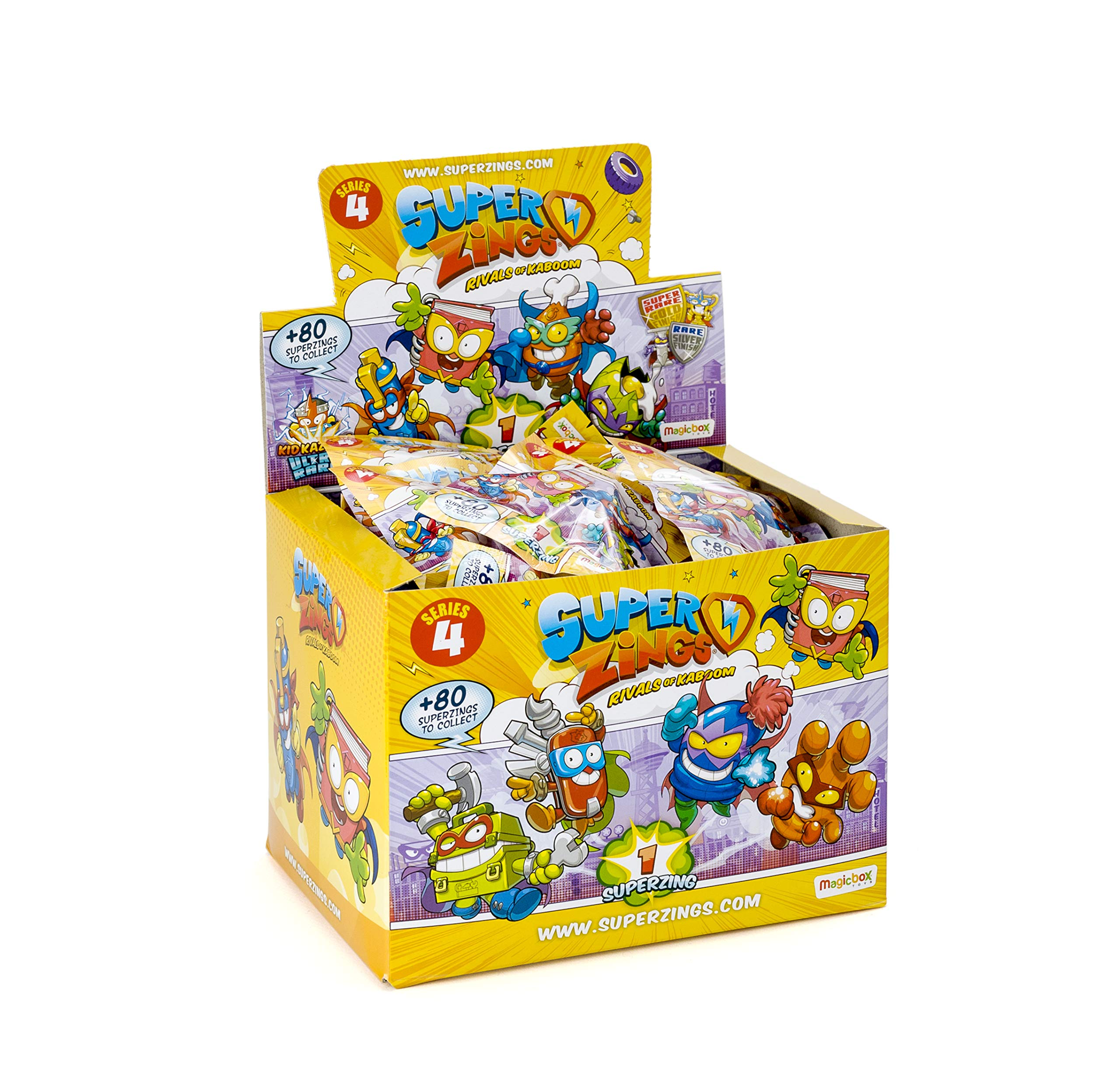 SuperZings - Series 4 - 50 Collectable Figure Display (PSZ4D850IN01), with 1 Figure in each Envelope