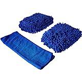 BlueCare Automotive Premium XL Car Wash Mitt - 2-Pack - Free Polishing Cloth, High Density, Ultra-Soft Microfiber Wash Glove,