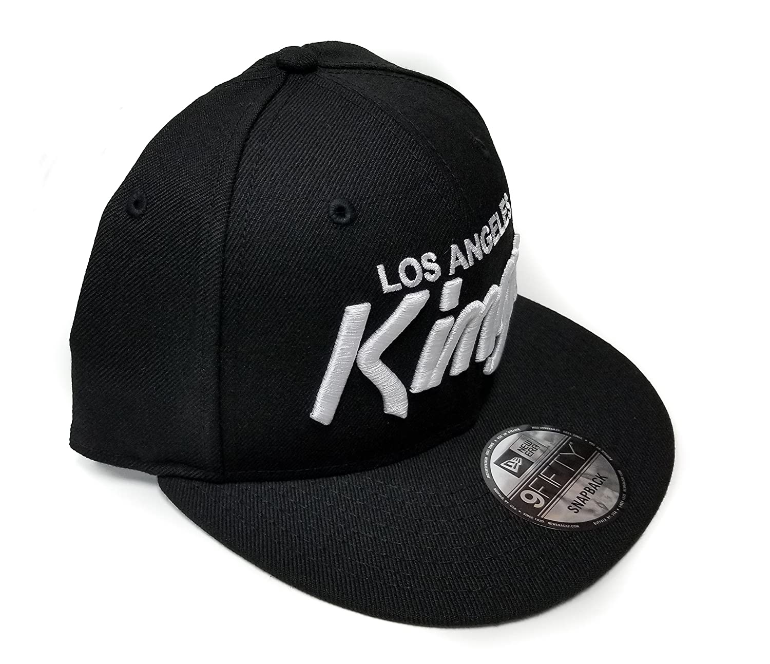 size 40 678d3 e3c00 Amazon.com   New Era Los Angeles Kings 9Fifty Basic Black and White Vintage  Script N.W.A Adjustable Snapback Hat NHL   Clothing