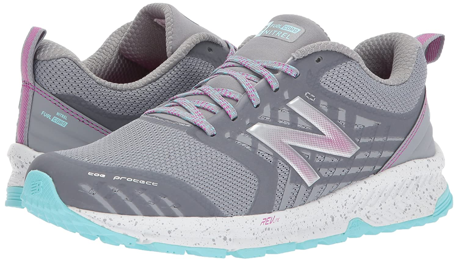 088c5468d8 Amazon.com | New Balance Women's Nitrel v1 FuelCore Trail Running Shoe,  Steel, 5.5 B US | Trail Running