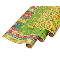 American Greetings Christmas Wrapping Paper with Gridlines, The Grinch (3 Pack, 105 sq. ft.)