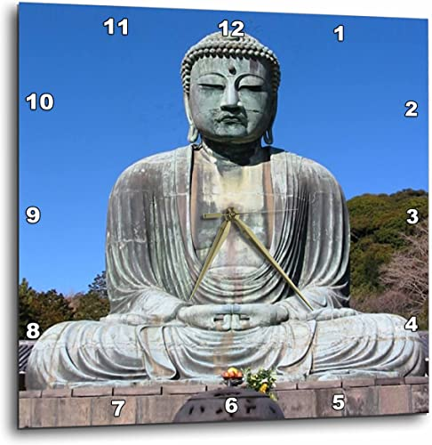 3dRose Buddha Wall Clock, 10 by 10-Inch