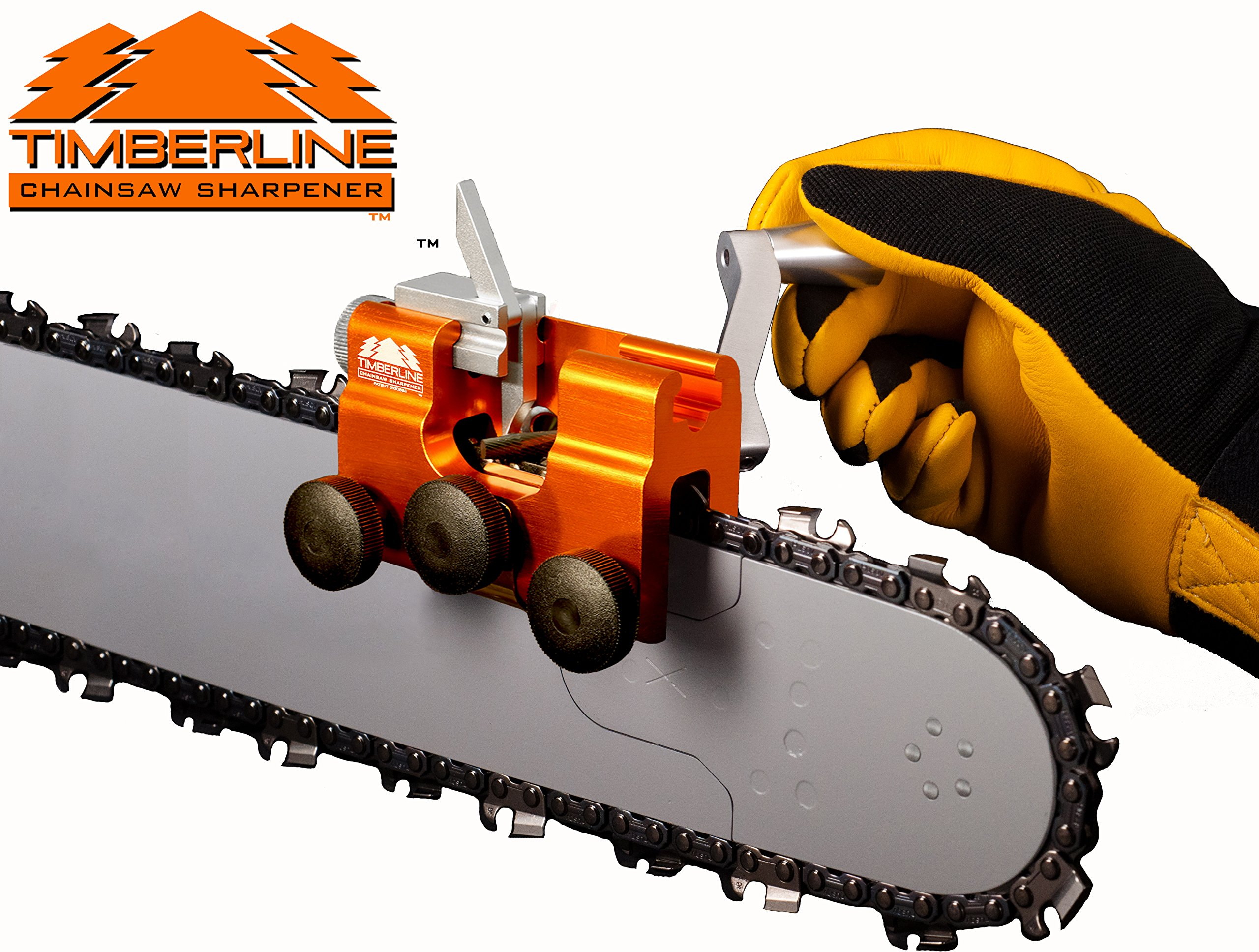 Timberline Chainsaw Sharpener with 3/16'' Carbide Cutter (for .325'' pitch chains)