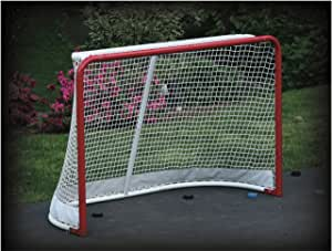 EZGoal 69115 Hockey Replacement Net with Skirt, White, 4 x 6-Feet (Pack of 1)