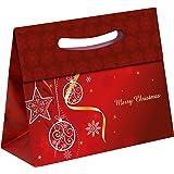 TSI 86517 Geschenkbeutel mit Hot Stamping Weihnachten Elegant, 12er Packung, Größe: Mittel quer (16,5 x 26 x 10 cm)