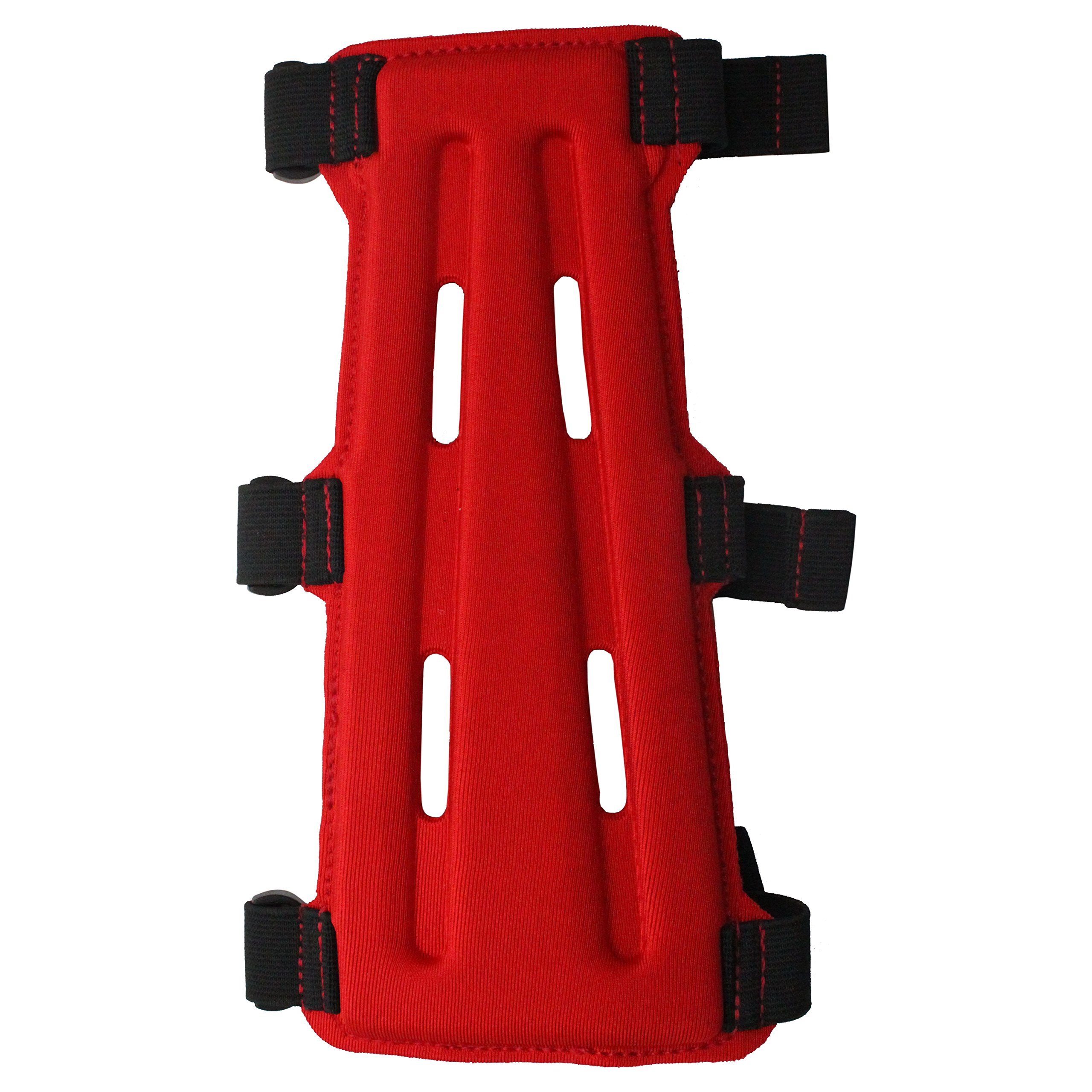 SAS 8'' Armguard Archery Bow Range with 3-Strap Buckles (Red) by Southland Archery Supply