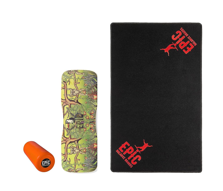 Epic Jungle + Floor MAT Balance Board - Balance Trainer - Epic Balanceboards