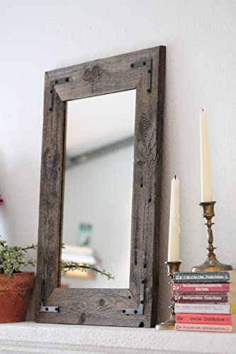 rustic wall mirrors large amazoncom rustic wall mirror 18 24 vanity bathroom amazoncom