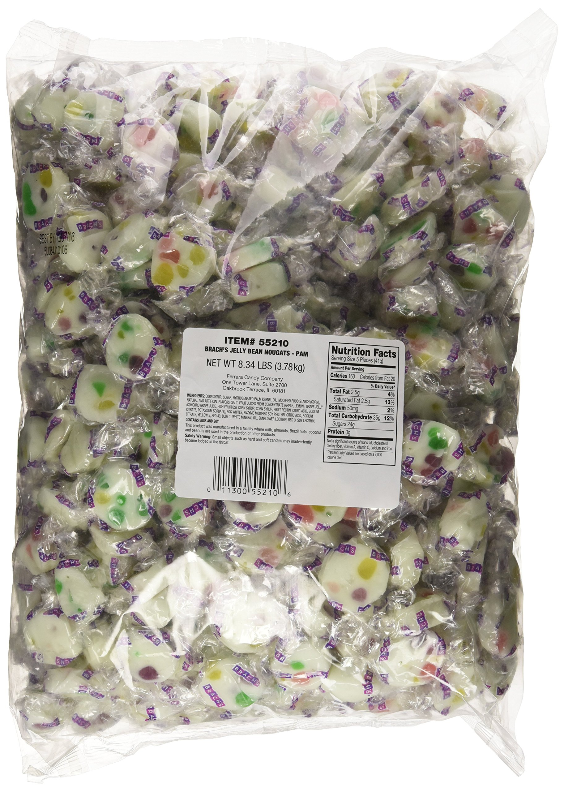 Brach's Jelly Beans Nougats Candy, 8.34 Pound Bulk Candy Bag by Brach's