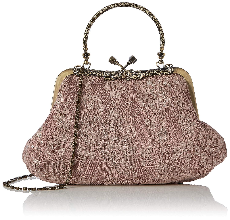a978a7065 Joe Browns Womens Floral Lace Metal Trim Clutch Bag Pink One Size: Handbags:  Amazon.com