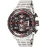 Invicta Men's Aviator 48mm Stainless Steel Chronograph Quartz Watch, Silver (Model: 17204)