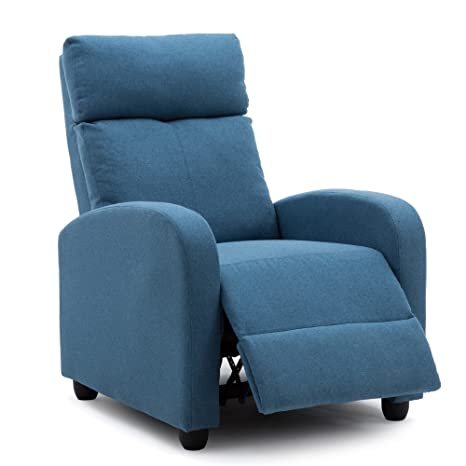 Amazon.com: nobpeint silla reclinable azul tumbona ...
