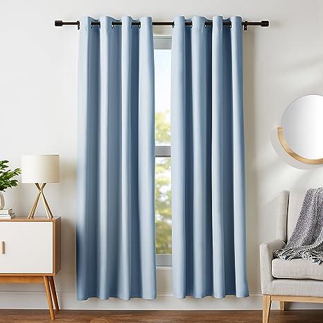 AmazonBasics - Juego de cortinas que no dejan pasar la luz, con ojales, 182