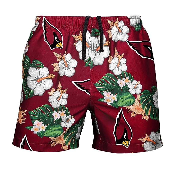 ef616dc03f Amazon.com : NFL Mens Team Logo Floral Hawaiin Swim Suit Trunks : Clothing