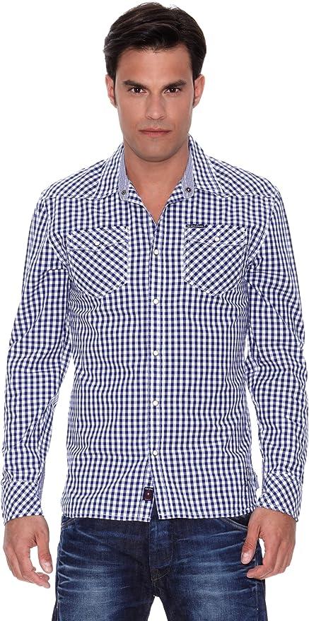 Pepe Jeans London Camisa Calipso Azul/Blanco S: Amazon.es ...