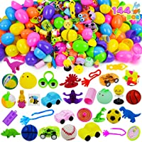 JOYIN 144 PCS Prefilled Easter Eggs with Assorted Toys for Easter Egg Hunt Supplies, Easter Party Favors, Easter Basket Stuffers, Easter Classroom Prize Supplies