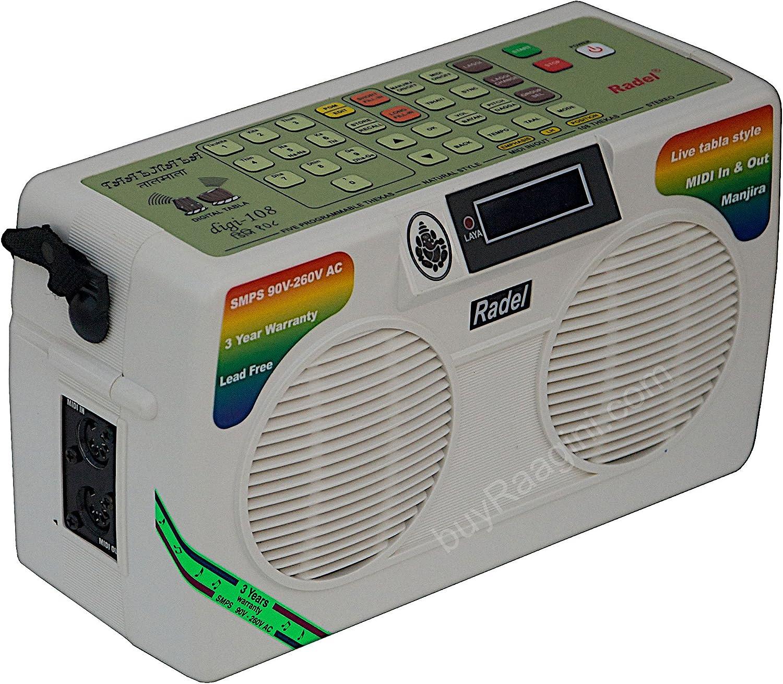 Electronic Tabla and Manjira New Electronic Tabla RADEL Taalmala Digi 108 Tabla Sampler DJ Tabla Sound Machine Power Cord, Instruction Manual