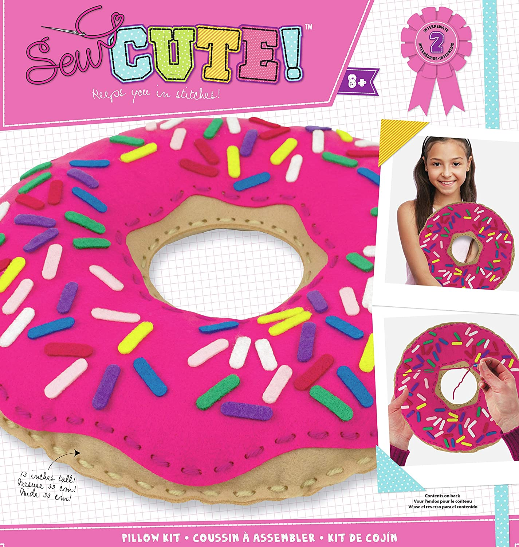 Colorbok 73976 Sew Cute Felt Pillow Donut Multicolor