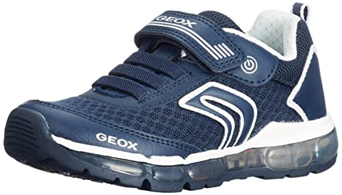 Geox J Android B, Zapatillas para Niños, Azul (Navy/Silver), 28 EU