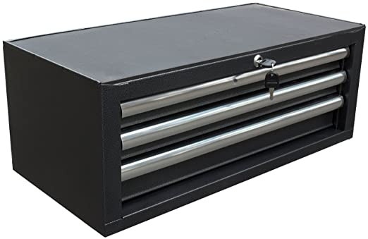 WEN 74603 26-Inch 3 Drawer Intermediate Chest, Silver/Black