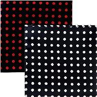 Sorella'z Mens Satin Multicolor Polka Print Pocket Square Combo - 2 Pieces
