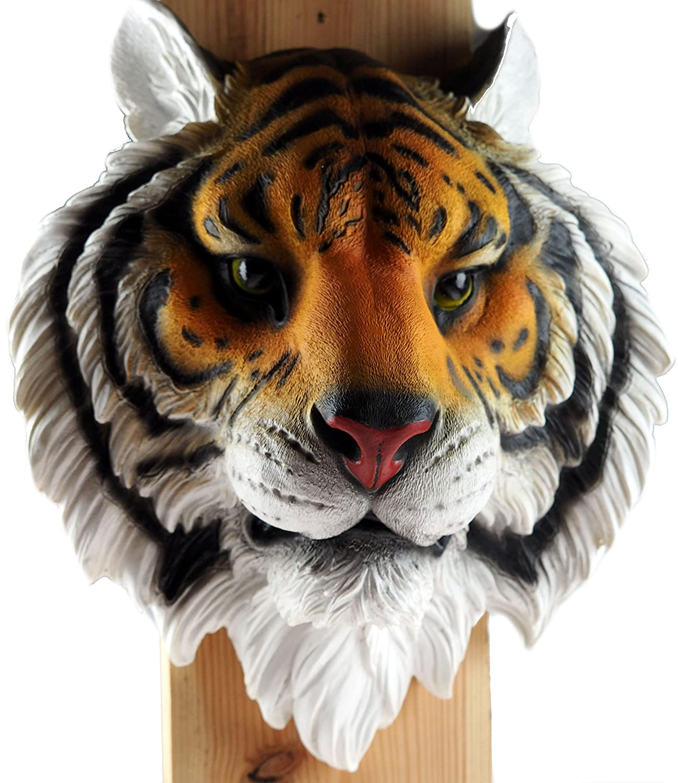 Grande supporto ornamentale da appendere alla parete a forma di testa di animale, decorazione realistica in resina Giraffe Head EGT