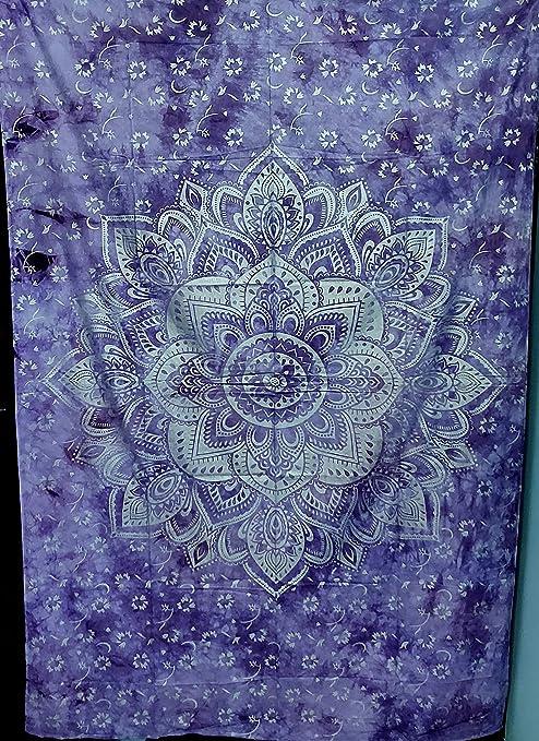 Twin Indian Elephant Mandala Tapestry Hippie Wall Hanging Bedspread Gypsy Decor