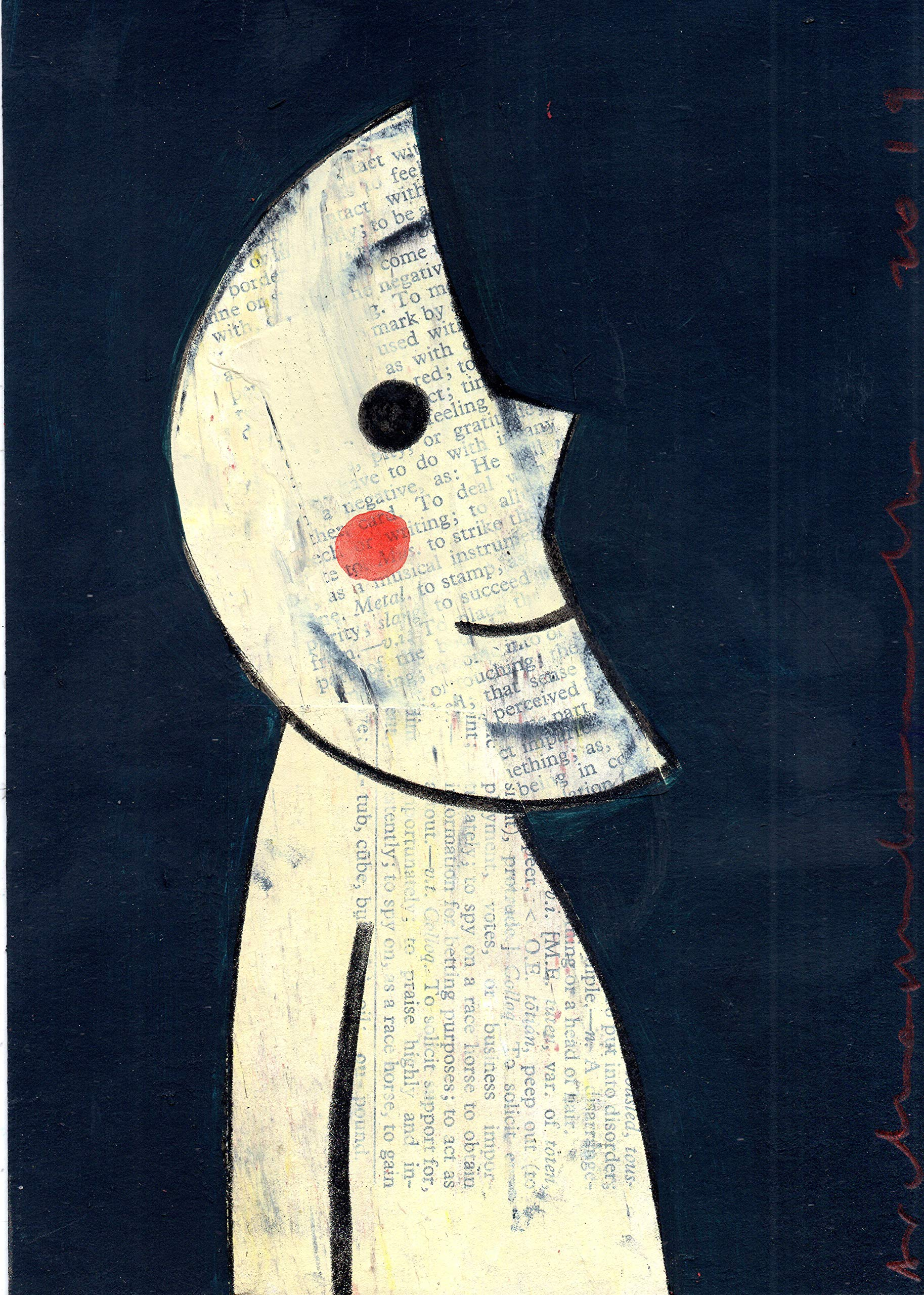 MOON FACE - original collage by