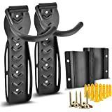 2 Sets of Compact Bike Wall Mount with Protector - Easy to Install Hanging Bike Rack Garage - Space Saver Bike Storage Rack - Vertical Bike Hook for Indoor Home Apartment and Garage Use