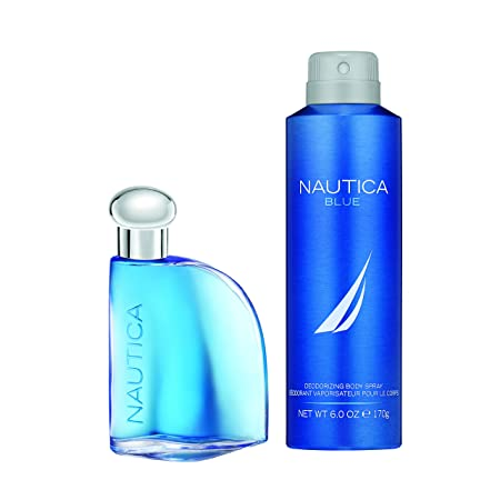 Nautica Blue 2pc Set – 1.7oz Eau De Toillette 6.0 oz Body Spray