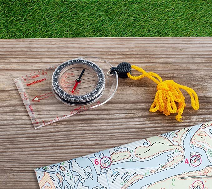 Portable Pocket Compass Hiking Scouts Walking Camping Survival AID Guides