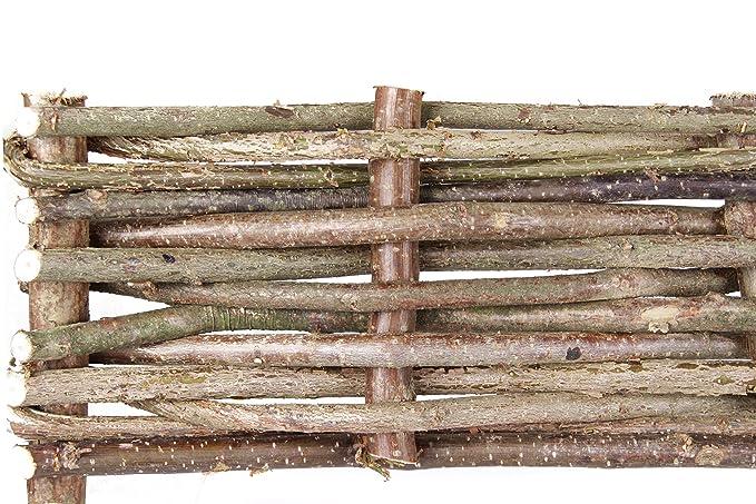 Bordure de Jardin en Noisetier Tressé (H 15cm x L 2m): Amazon.fr: Jardin