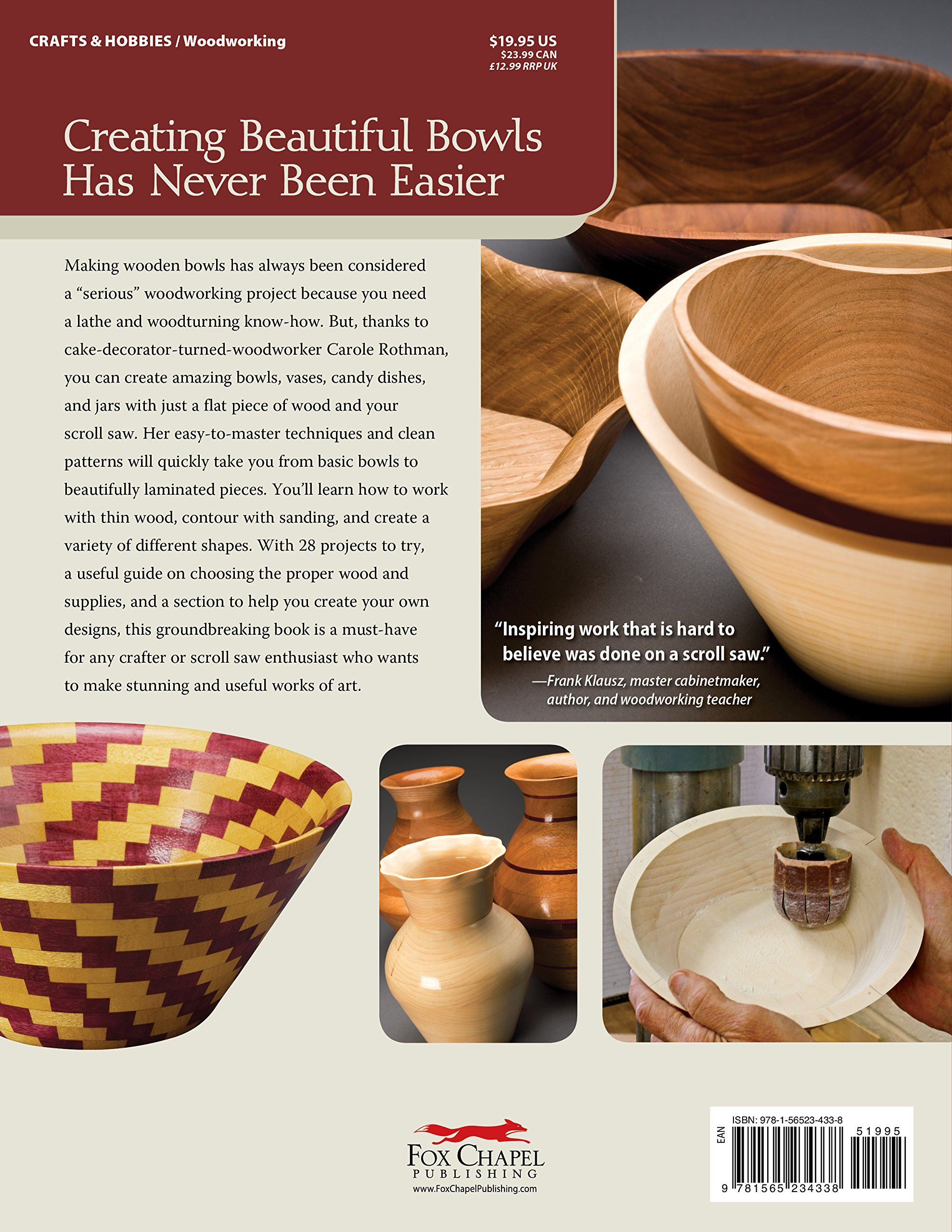 wooden bowls from the scroll saw 28 useful and easytomake projects scroll saw woodworking u0026 crafts book carole rothman