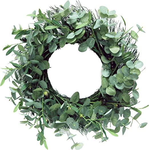 Faux Floral Wreath for Front Door Window Wedding Summer Fall Outdoor Indoor wuliLINL Artificial Five Star Flower Wreath Rustic Farmhouse Decorative Artificial Wooden Flower Wreath