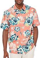Cubavera Mens Retro Floral Woven Shirt
