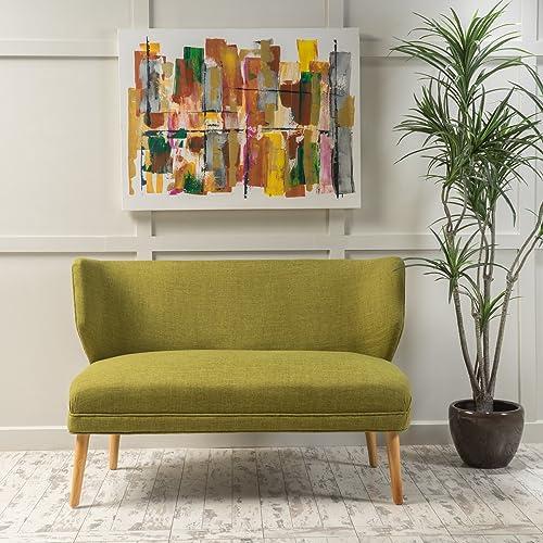 Christopher Knight Home Desdemona Mid-Century Fabric Loveseat, Green