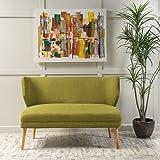 Dumont Mid Century Modern Fabric Loveseat Sofa Settee (Green)