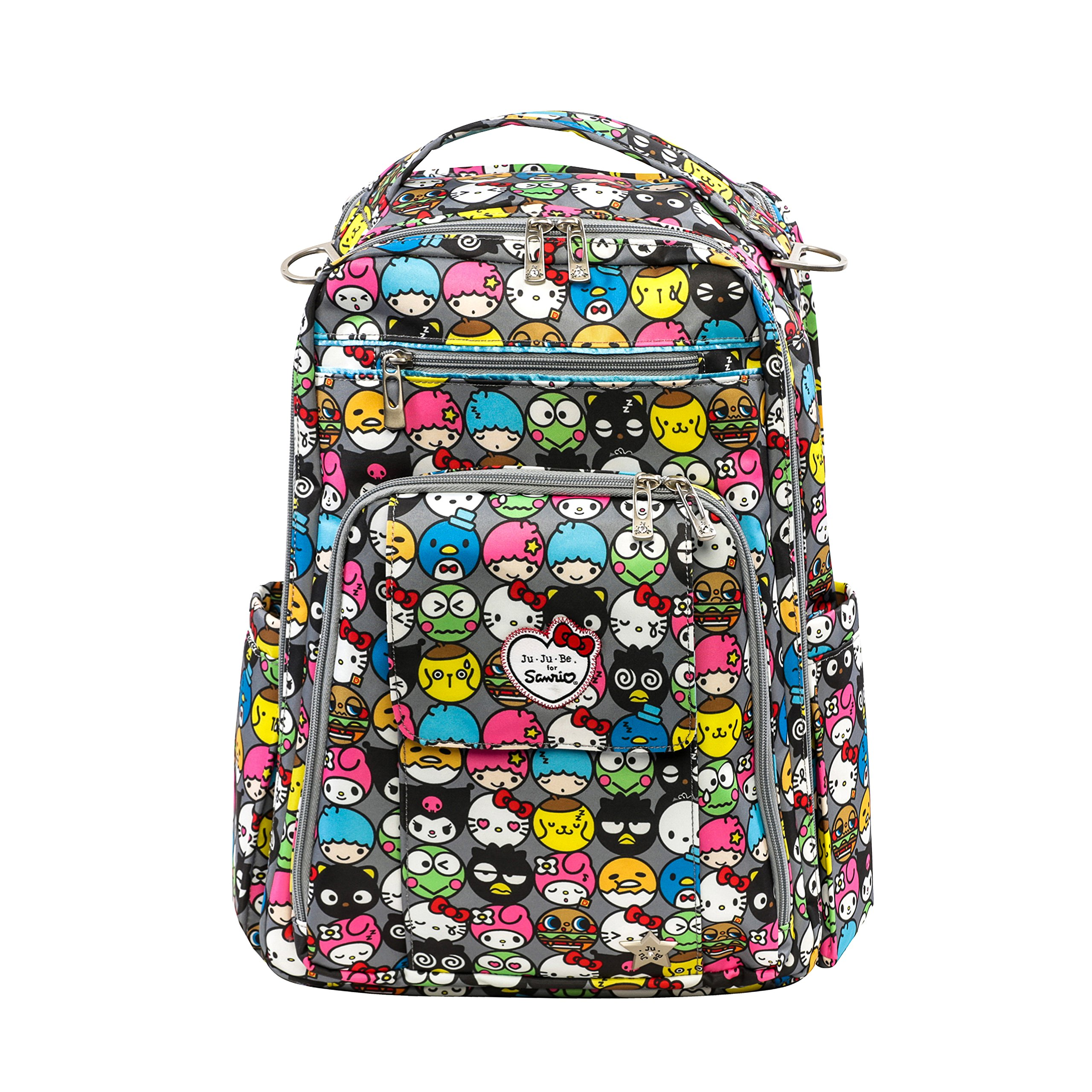 bf52e67c57c Amazon.com   JuJuBe Be Right Back Multi-Functional Structured Backpack Diaper  Bag, Hello Kitty Collection - Hello Friends   Baby
