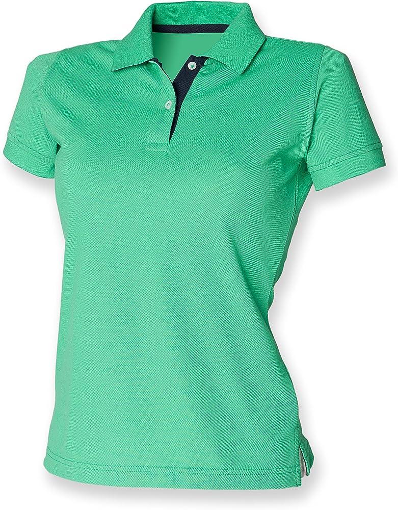 Henbury - Polo - para Mujer Bright Green/Navy 38: Amazon.es: Ropa ...