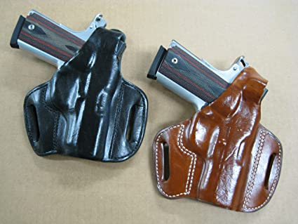 Amazon Com Azula Gun Holsters Leather 2 Slot Molded Thumb Break Pancake Leather Pistol Holster For Jericho 941 Pistol Tan Sports Outdoors