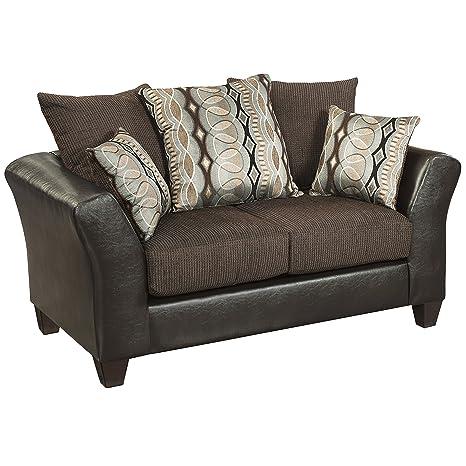 Flash Furniture Riverstone Rip Sable Chenille Loveseat