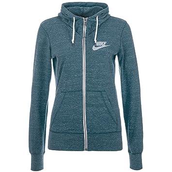 Nike Hoody Gym Vintage Fleeze Jacke - Sudadera con Capucha para Mujer, Color Azul, Talla S: Amazon.es: Deportes y aire libre