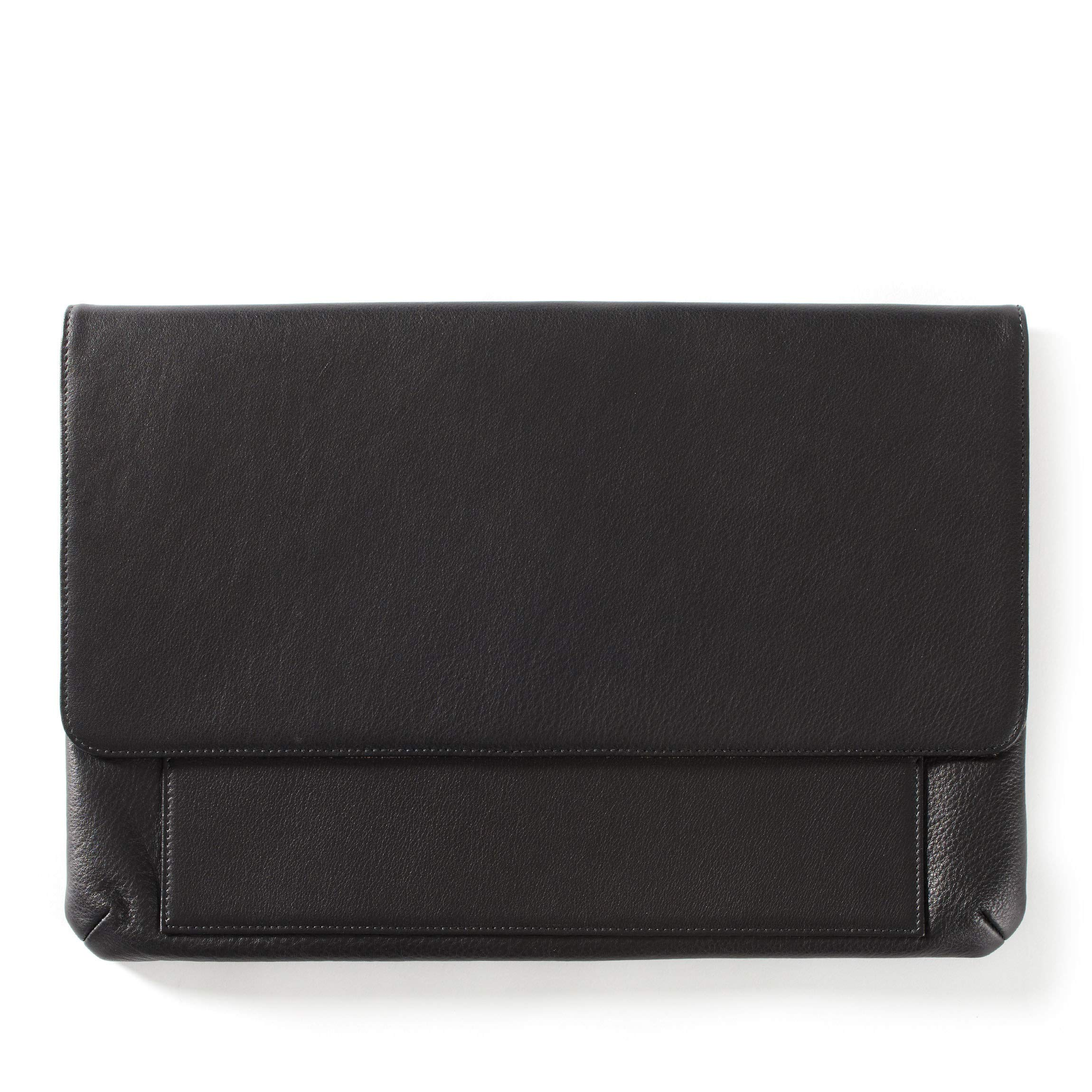 Laptop Clutch - Full Grain Leather - Black Onyx (black)