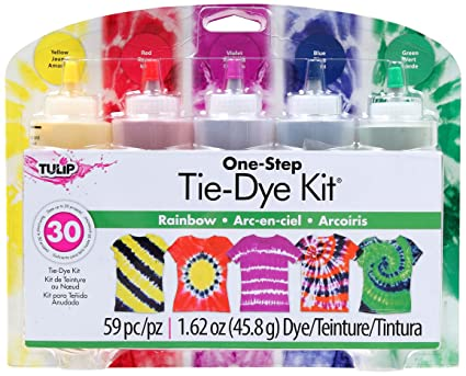 124f89e7cee5 Image Unavailable. Image not available for. Color  Tulip One-Step 5 Color  Tie-Dye Kits ...
