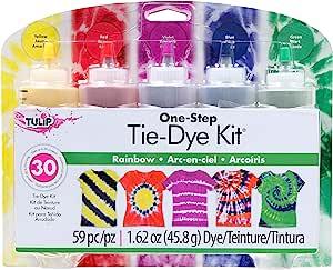Tulip 31674 ONE Step TIE-DYE KIT 5 Colour Rainbow Tie Dye Kit, Rainbow, 1.62oz, 59 Pieces