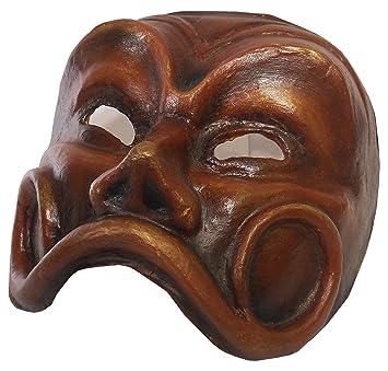 FILISTRUCCHI Máscara de Arlequín Colección en Papel Maché, Color Piel
