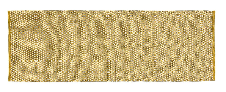 Unbekannt Home Basics hm12p Teppich für Haus, Baumwolle, Senf, 70 x 200 cm